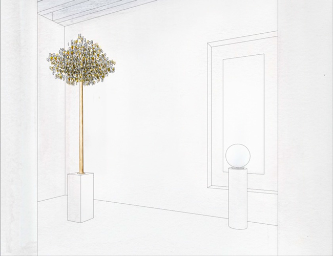 rosemorant_Gold-Reflection-exhibition-kuwait-layout3-suspended-tree
