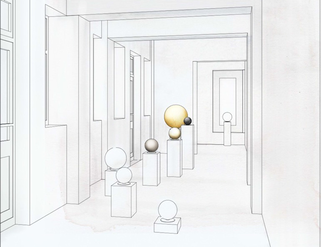 rosemorant_Gold-Reflection-exhibition-kuwait-layout4-spheres